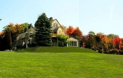 Lodge in fall