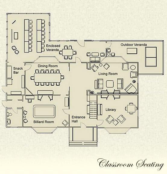 Classroom seating floor plan