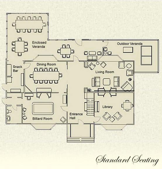 Standard seating floor plan