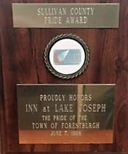 Sullivan County Pride Award presented to Inn at Lake Joseph