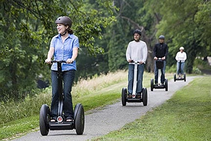 People on a Segway tour