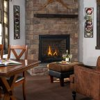Living Room with fireplace in Cedar