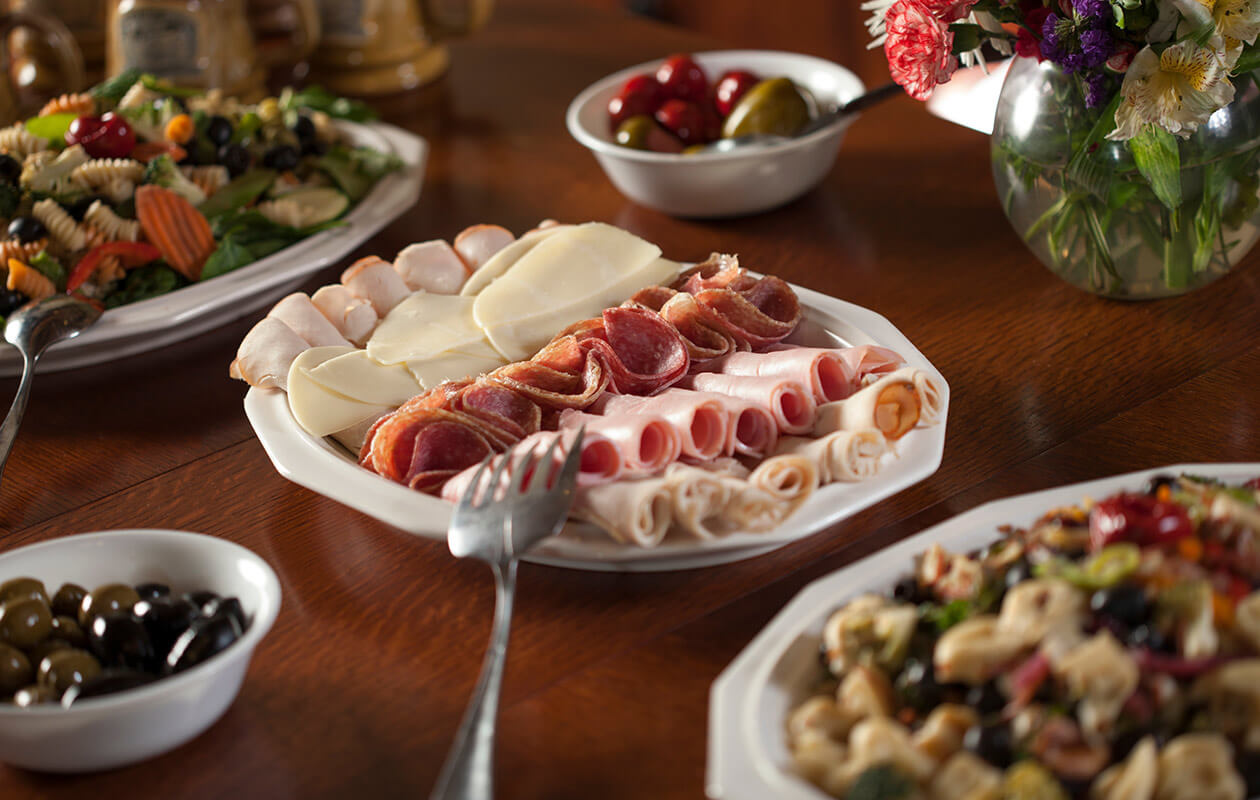 Cold cuts and other foods from the kitchen