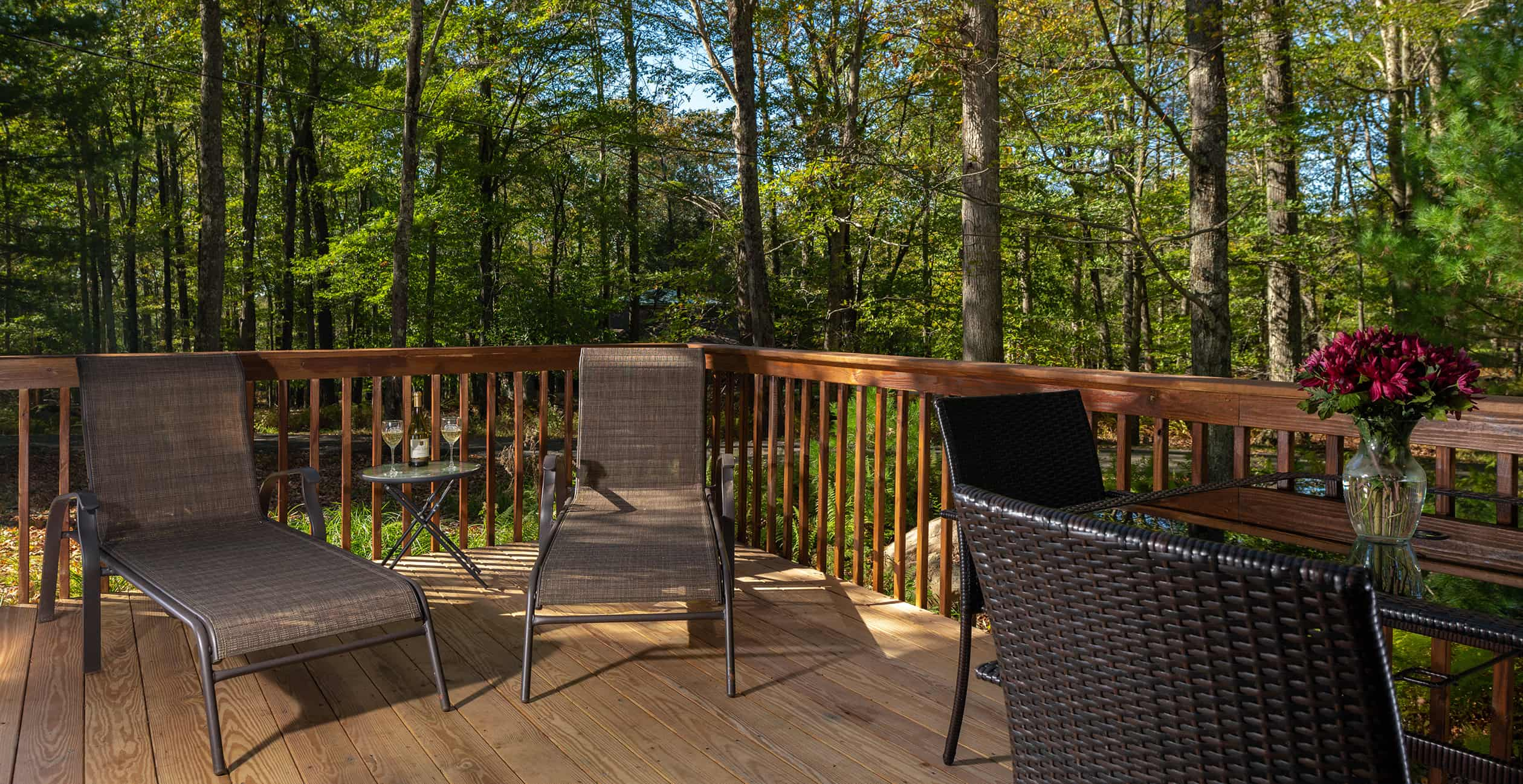 Deck on Cottage - Cedar room