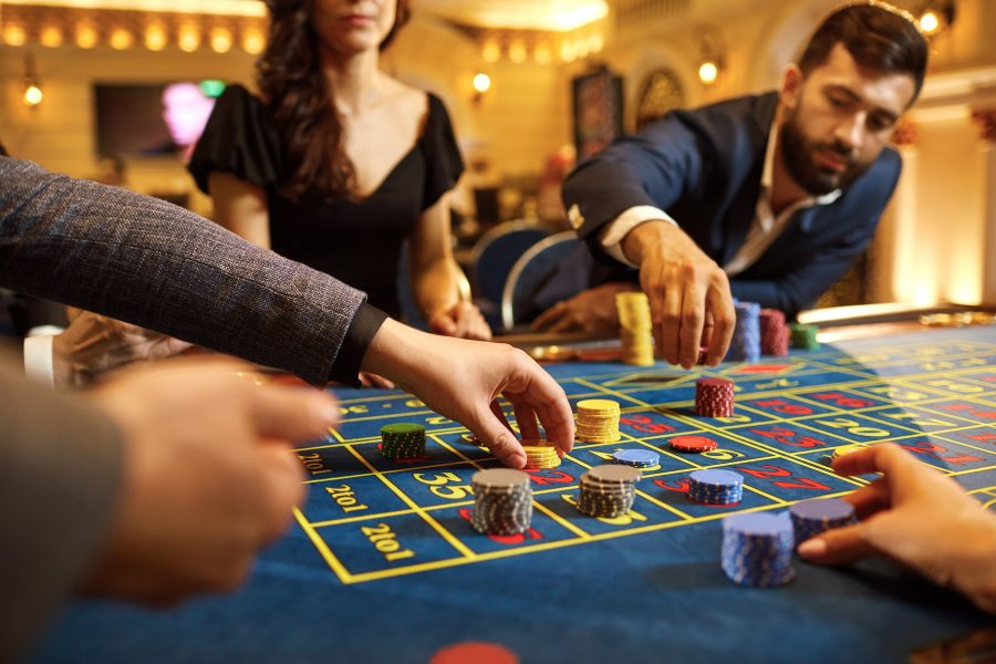people playing at a casino