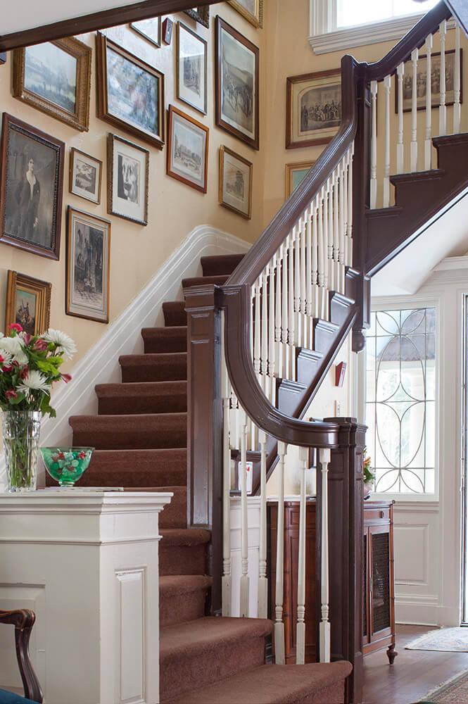 Staircase at the Inn at Lake Joseph